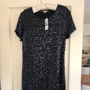 Black Sequin Michael Kors Dress